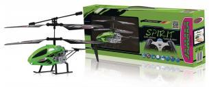 R/C Helikopter Spirit 3+2 Channel RTF / Gyro Indeni / Med Belysning Infrarød Styring Grøn