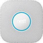 Nest Protect - Wired 230V med backup batteri - Røg- og kuliltealarm. Tænker, taler og sender advarsler til din mobiltelefon