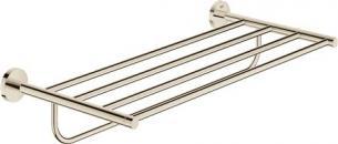 GROHE Essentials Multi håndklædestang med hylde - Poleret Nikkel