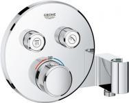Grohe Smartc .termostat 2funk til indbygning med 2 funktioner og bruseholder, rund