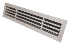 aluminium sølvalukseret 500x50mm indblæsningsgitter elegance nilan