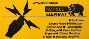 Elephant Advarselsskilt