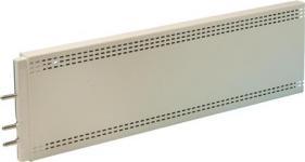 mm 400x18x124 lxdxh - hvidt v 230 40w varmepanel elpan