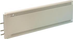mm 850x18x124 lxdxh - hvidt v 230 110w varmepanel elpan