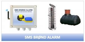 tilslutning 230vac direkte alarm brønd sms-styring