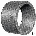 GF PVC Reduktion støttebøsning kort 75-63 mm