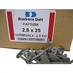 Tagpapsøm 2,8x25mm Varmgalvaniseret -1285 stk. pr. pakke