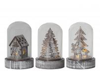 cr2032 batteri til wood 3-sæt lys led med kupol lanterne