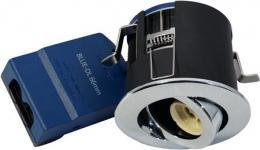krom lyskilde ex 230v gu10 ø87mm downlight 66 blue-dl