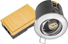 børstet lyskilde ex 230v gu10 ø87mm downlight 66 net-dl
