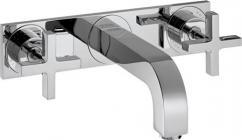 Image of   Hansgrohe AXOR Citterio 3-huls håndvaskarmatur til vægmontering, 226 mm tud