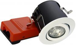 lyskilde ex hvid downlight ø88mm 230v gu10 66 exo daxtor