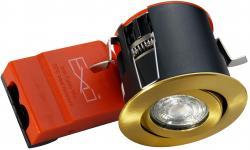 lyskilde ex messing downlight ø88mm 230v gu10 66 exo daxtor
