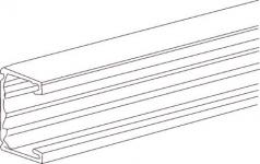 ral9010 2500mm længde mm 123 bredde mm 72 højde tek-u123 kanalbund