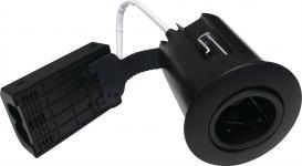 sort mat ip44 lyskilde ex 230v gu10 ø86mm high install quick - 1219 nordtronic