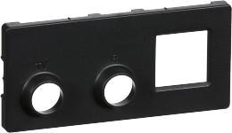 koksgrå modul 2 rj45 radio tv antenneudtag f afdækning fuga lk