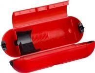 rød udendørs forlængerled og stikprop af samling til safebox elkappe