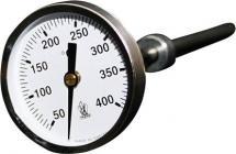 stål elektroforzinket c 0-400 6x150mm føler 51mm røggastermometer