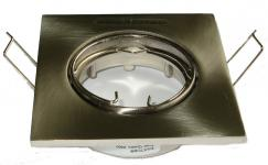 firkant 35w nikkel satin gu10 spot easy downlight