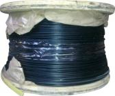 sort 3mm 2 nylonforhudet wire