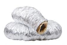 alufolie varmebestandig med ø102x4000mm flexslange isoleret