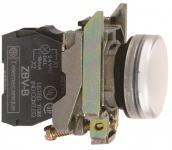 24vacdc led hvid signallampe