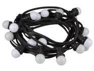 Party lyskæde m. 20 varm hvide LED pærer (11,5m)