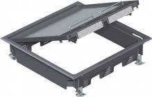 edb stk 4 og 230v stikdåse stk 4 med modul 12 gulv hævet for komplet gulvboks