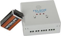 felson batteri litium 9v inkl relæ med fugtalarm