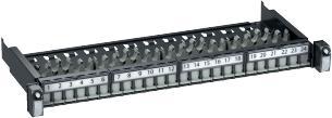 koksgrå konnektor actassi for porte 24 1he advanceret 19 udtræksbar patchpanel lexcom
