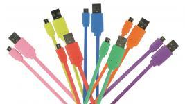 Usb 2.0-Kabel USB A Han - Micro B Han Fladt 1.00 m Gul