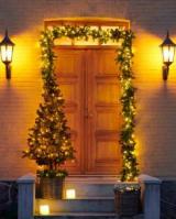 guirlander og dørkranse juletræer