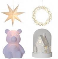 dekoration og julelys indendørs